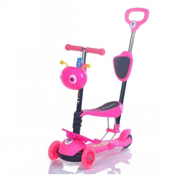 Trotinet za decu, 5/1 Model 652/1 ''Mrav'' Roze sa svetlećim točkovima - NOVO -