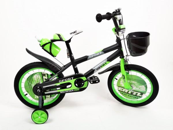 Bicikla za decu sa pomoćnim točkovima 16'' Model 720 '' Sport Division'' zelena
