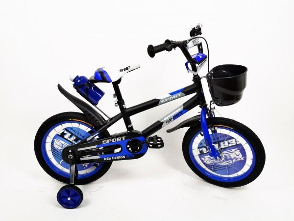 Bicikla za decu sa pomoćnim točkovima 16'' Model 720 '' Sport Division'' plava