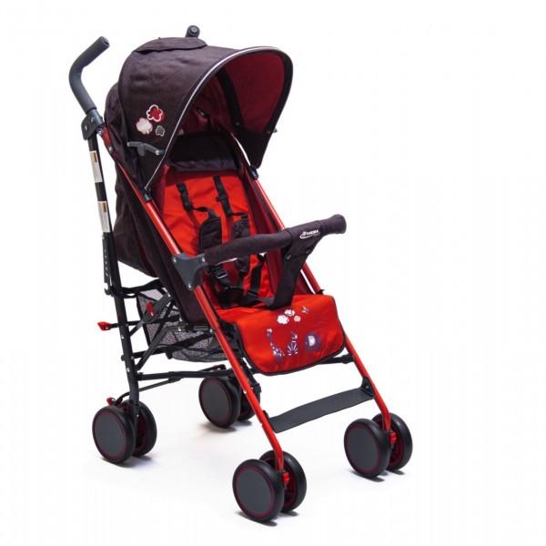 Kišobran kolica za bebe sa motivom oblaka,  crvena