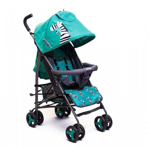 Kišobran kolica za bebe sa motivom zebre, tirkizna