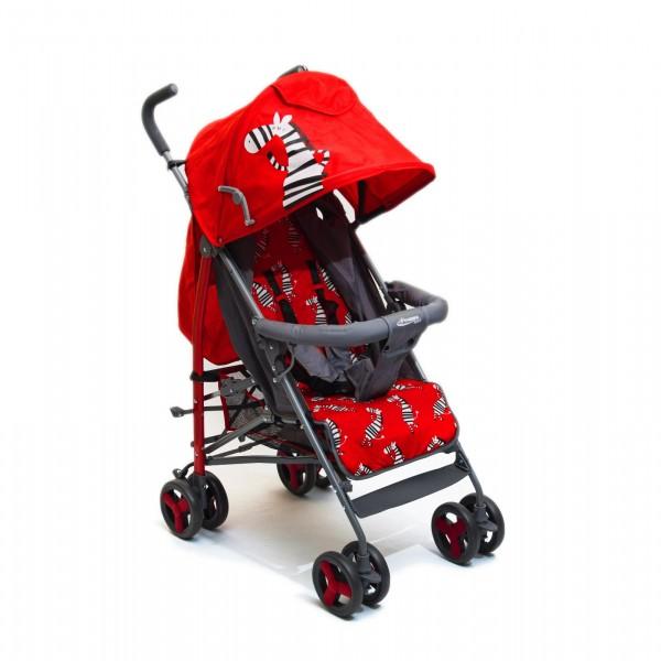 Kišobran kolica za bebe sa motivom zebre, crvena