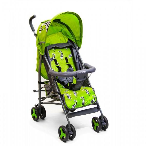 Kišobran kolica za bebe sa motivom zebre zelena