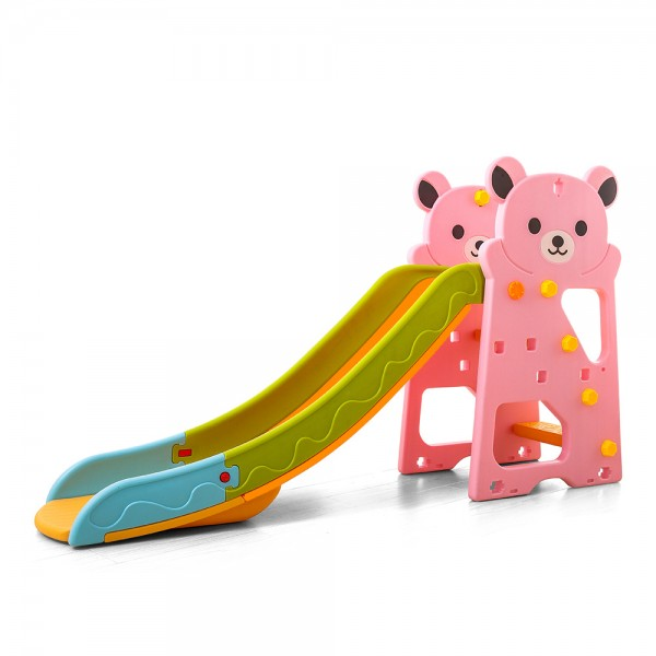 Tobogan za decu Garden sa motivom medveda - pink